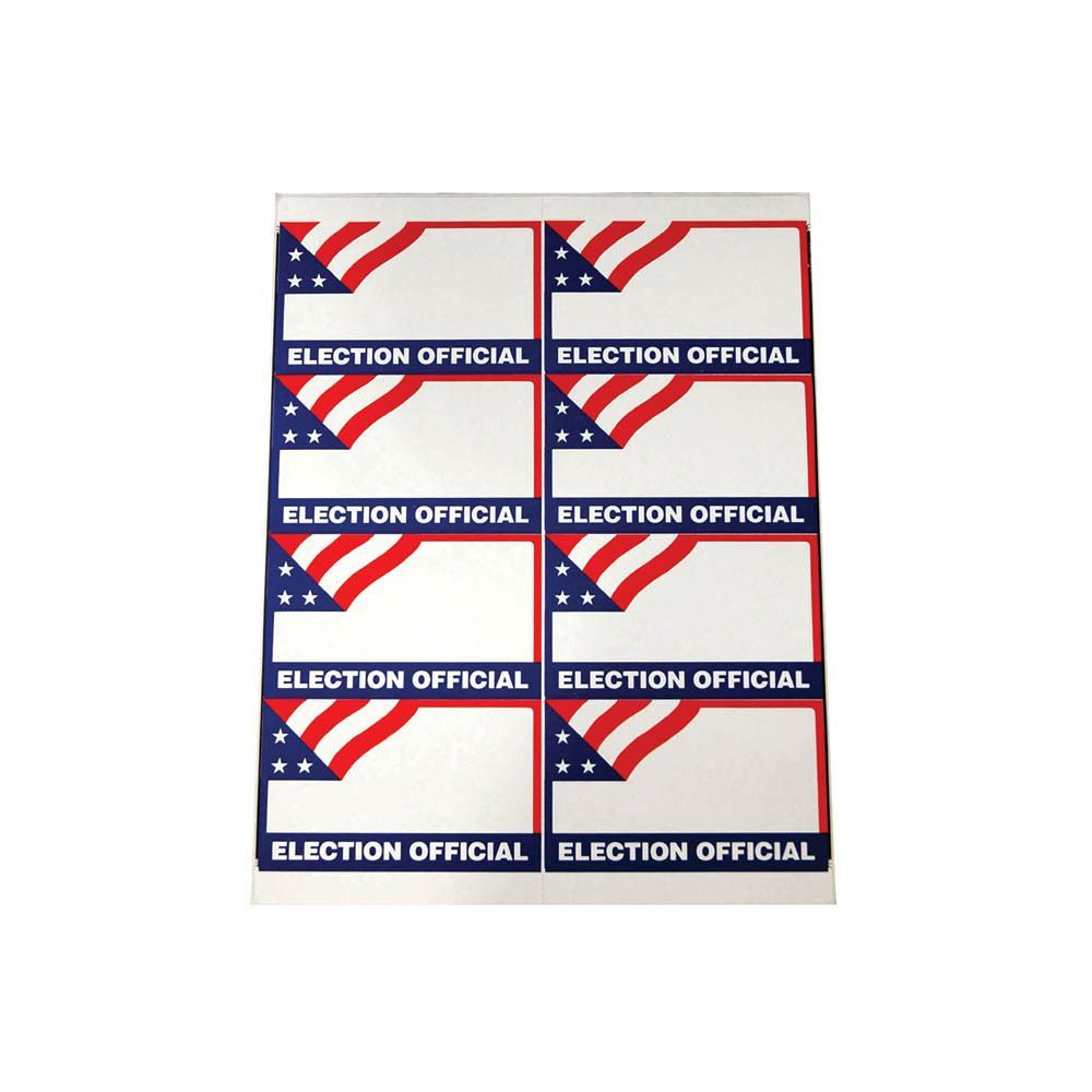 Election Official Name Badges