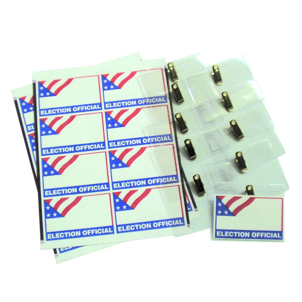 Election Official Badge Kit