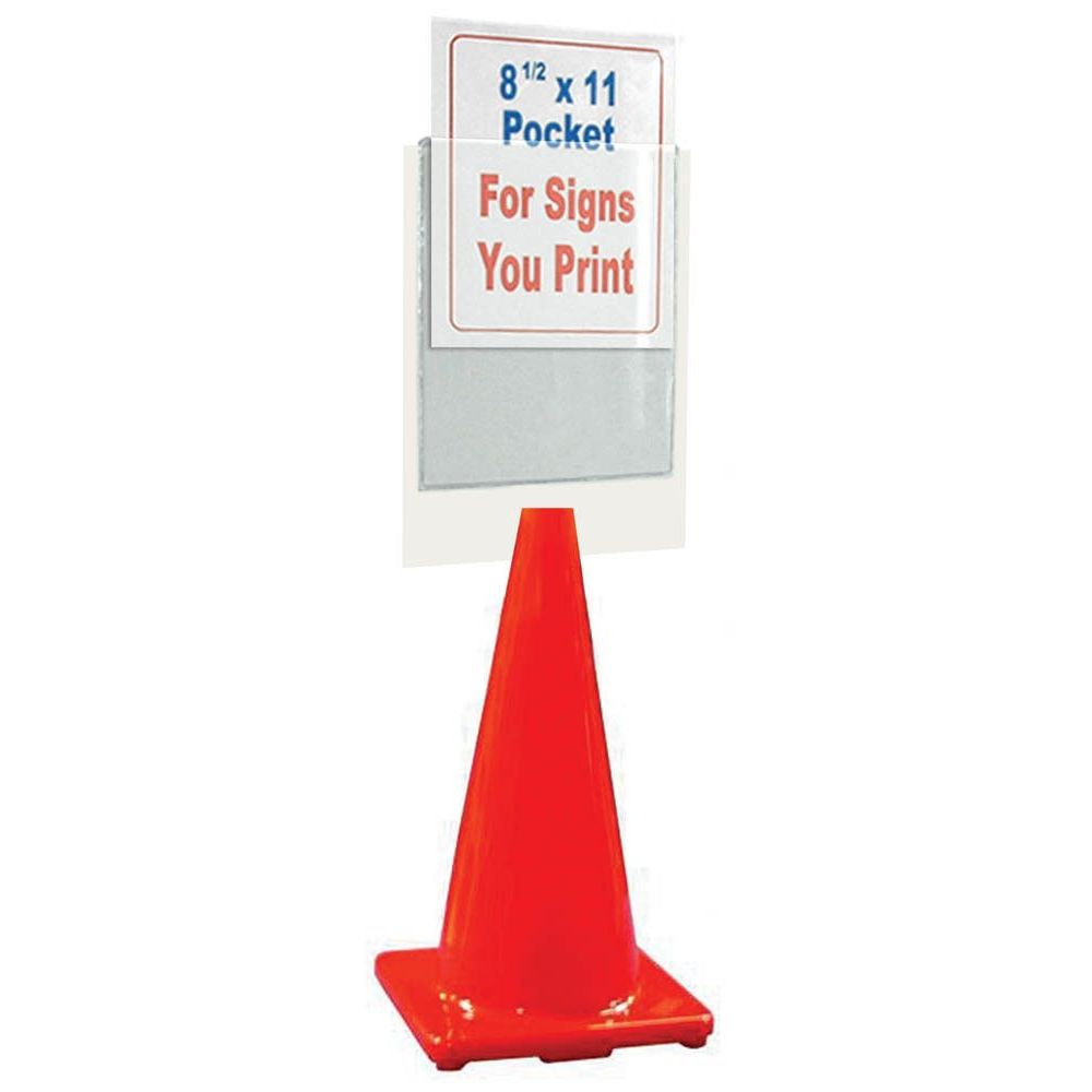 Clear Pocket Cone Topper Sign