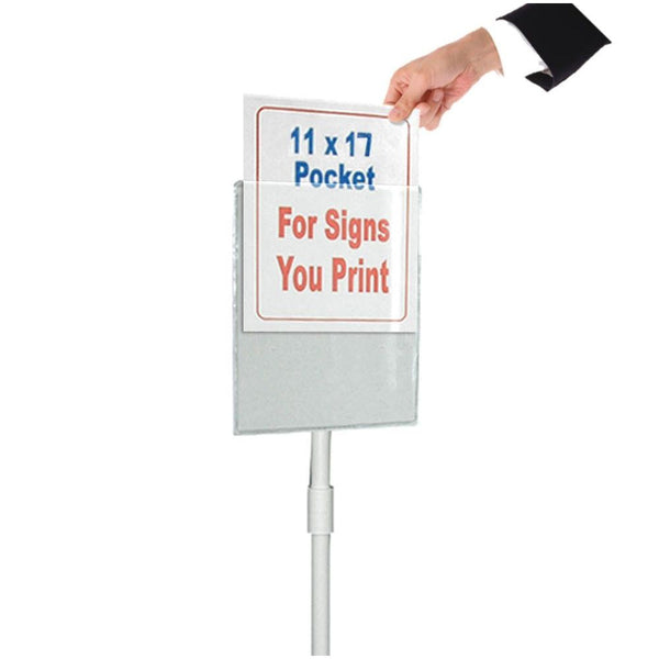Clear Pocket Vinyl Sign for Weightable Base