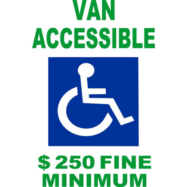 Van Accessible $250 Fine Minimum SG-105B