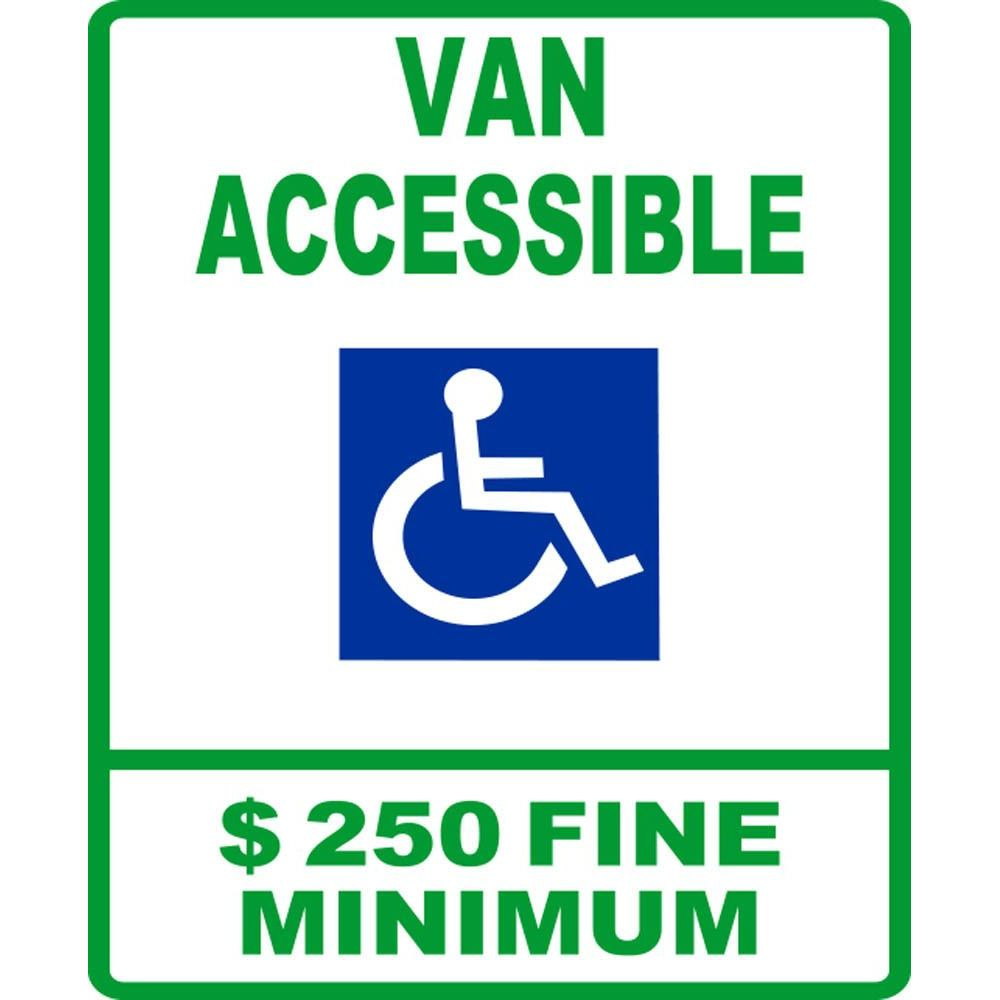Van Accessible $250 Fine Minimum SG-105C