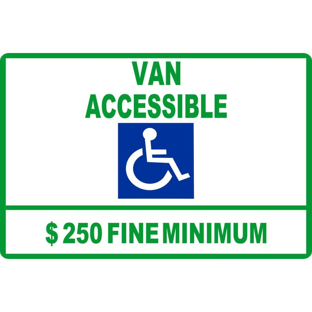 Van Accessible $250 Fine Minimum SG-105D