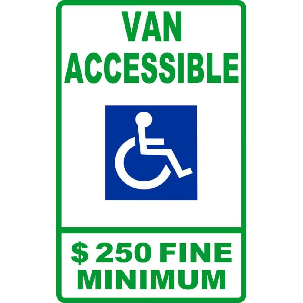 Van Accessible $250 Fine Minimum SG-105F