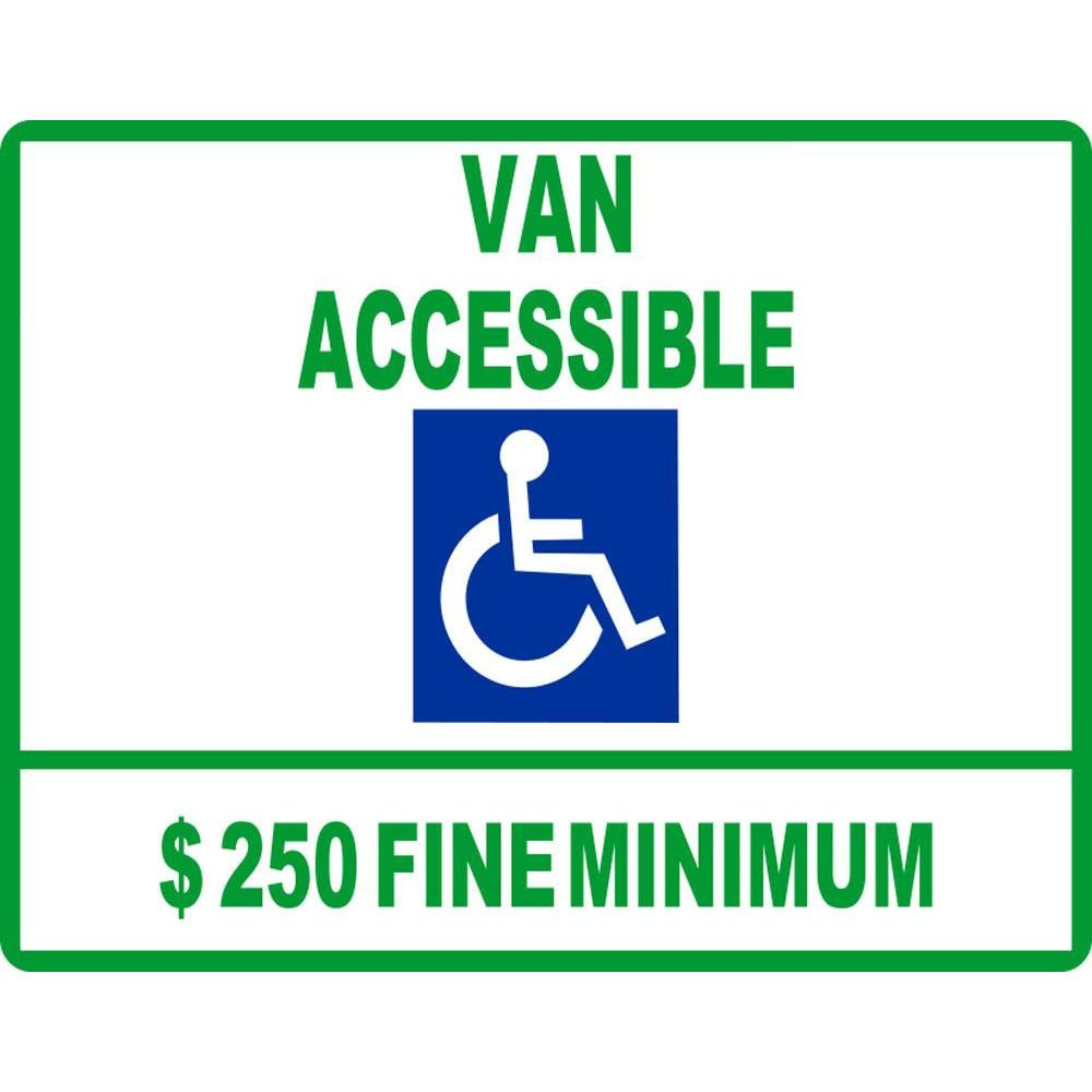 Van Accessible $250 Fine Minimum SG-105G