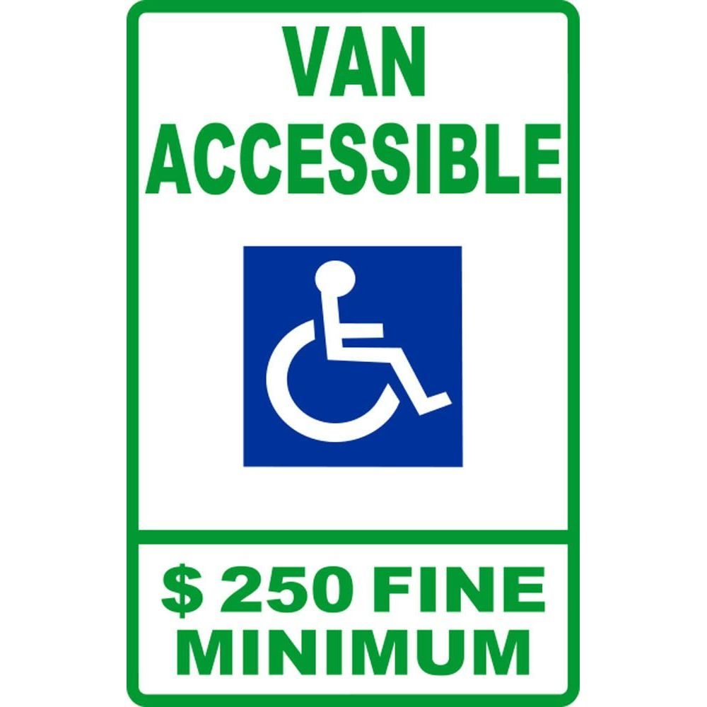Van Accessible $250 Fine Minimum SG-105H
