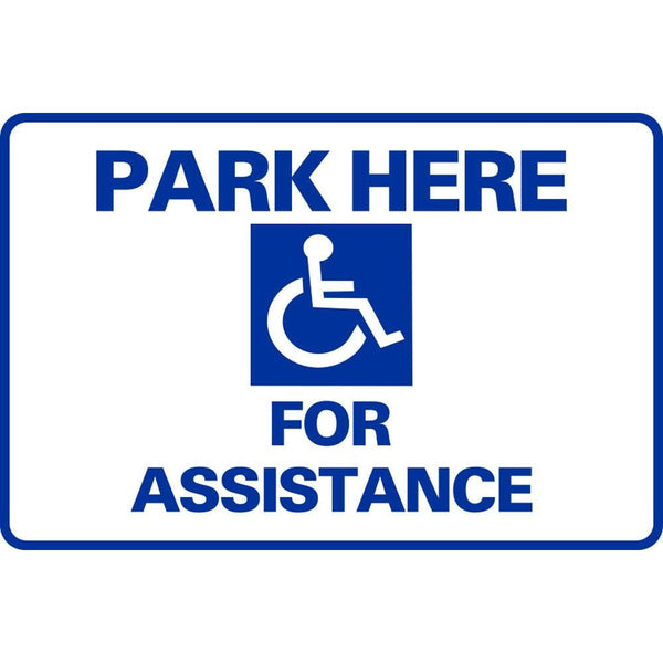 Park Here For Assistance SG-106D