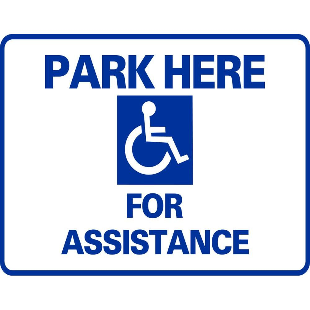 Park Here For Assistance SG-106G