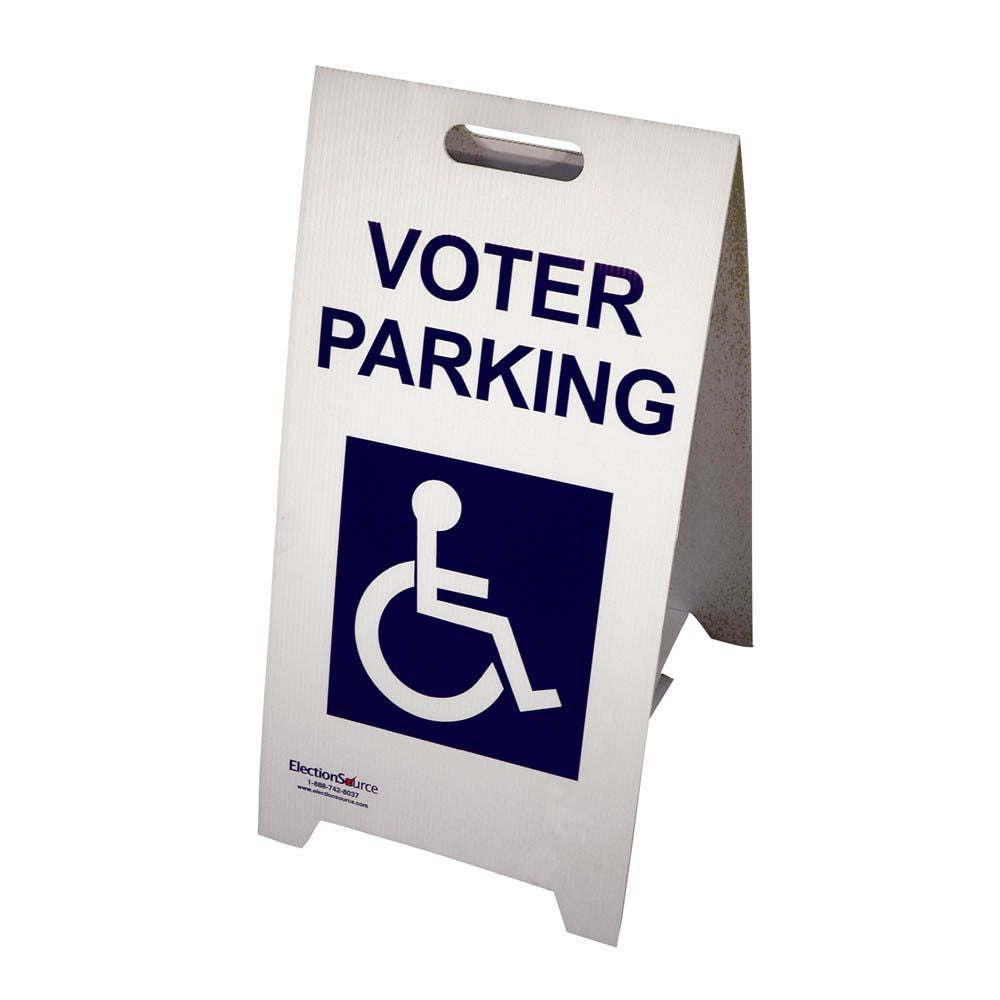 A-Frame Sign Voter Parking with Handicap Symbol