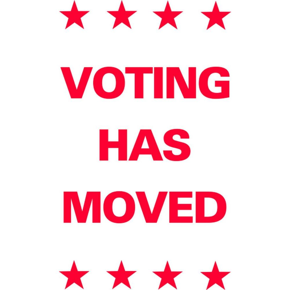 Voting Has Moved SG-206E