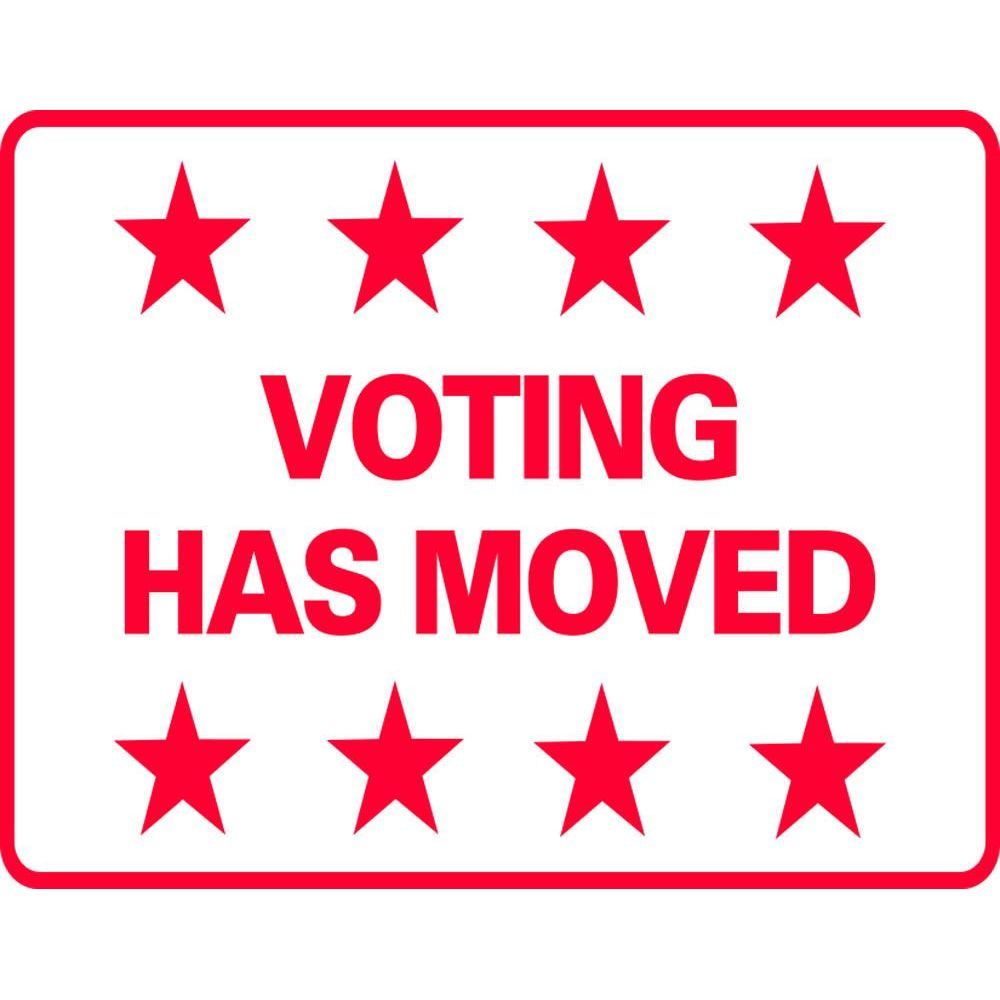Voting Has Moved SG-206G