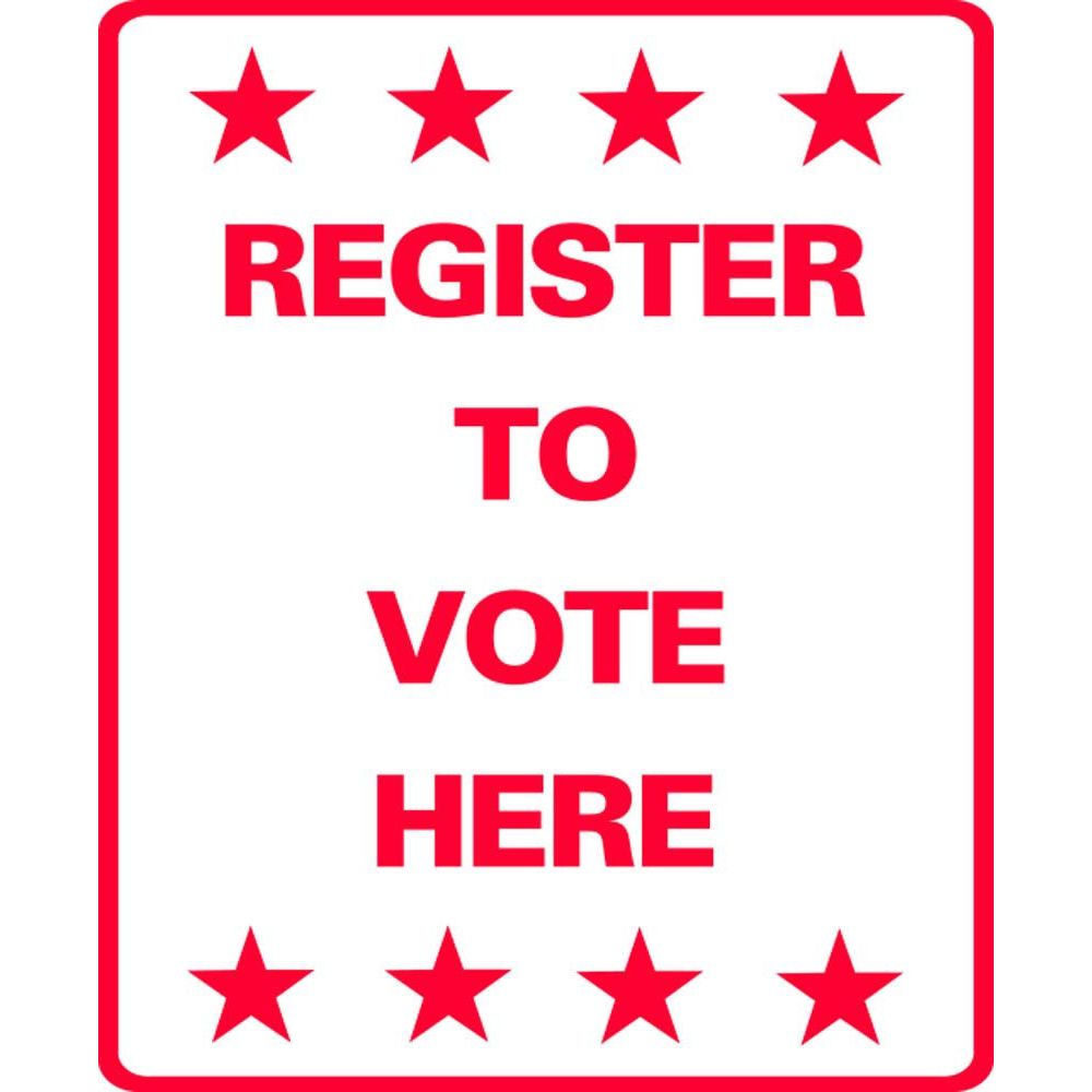 Register to Vote Here SG-211C