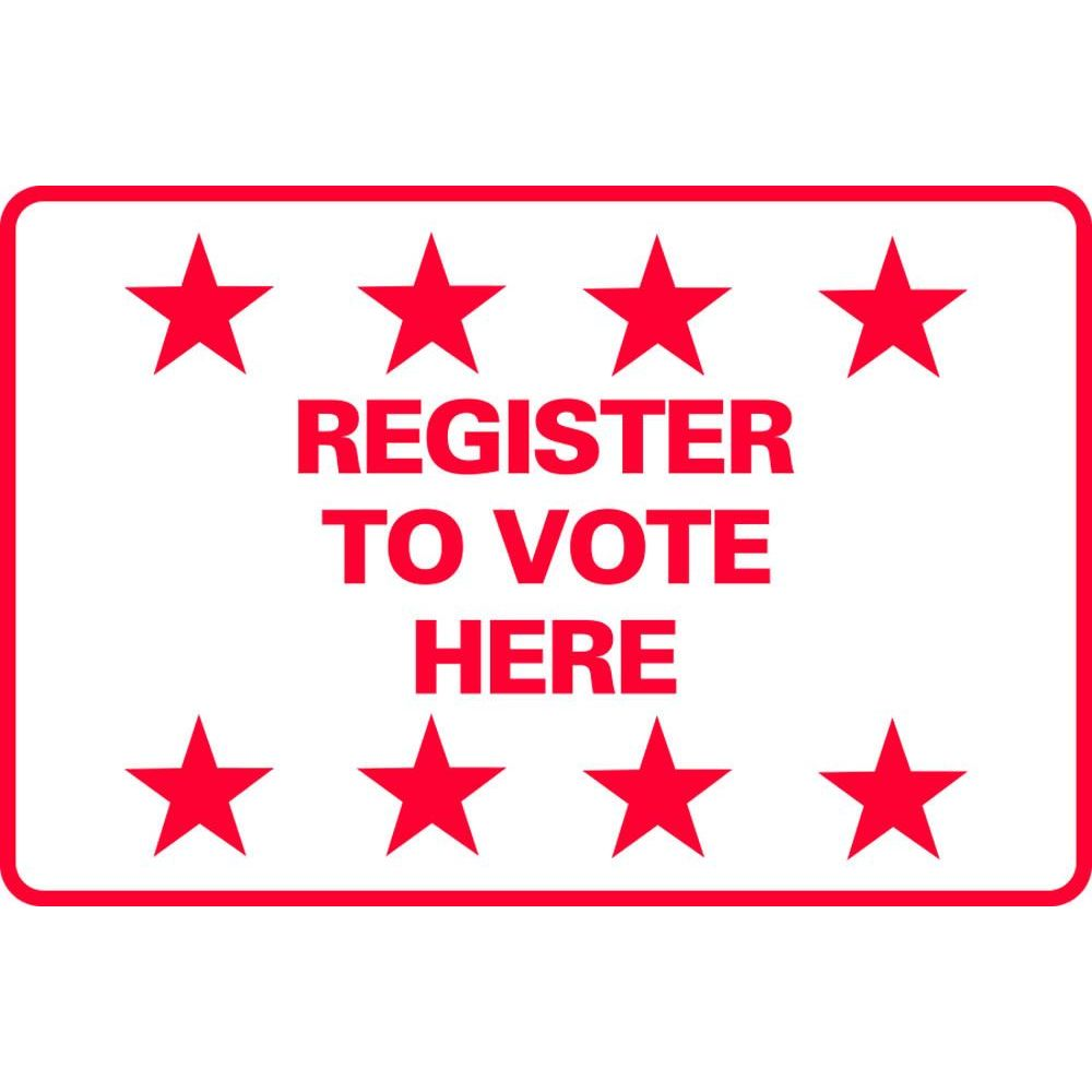 Register to Vote Here SG-211D