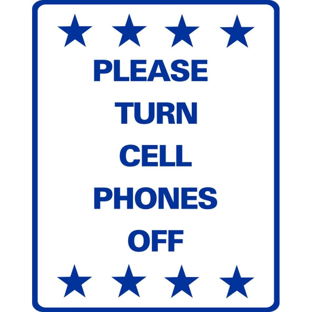 Please Turn Cell Phones Off SG-219JS