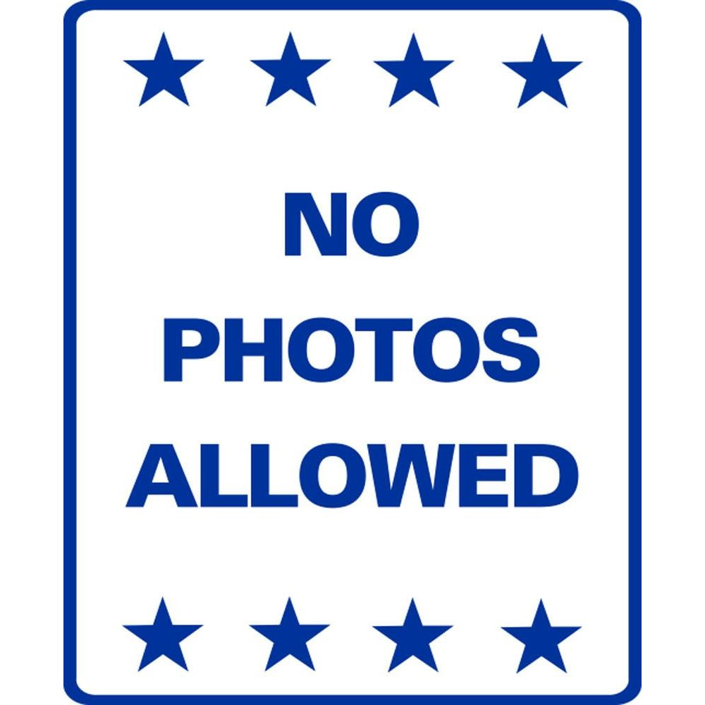 NO PHOTOS ALLOWED SG-221C