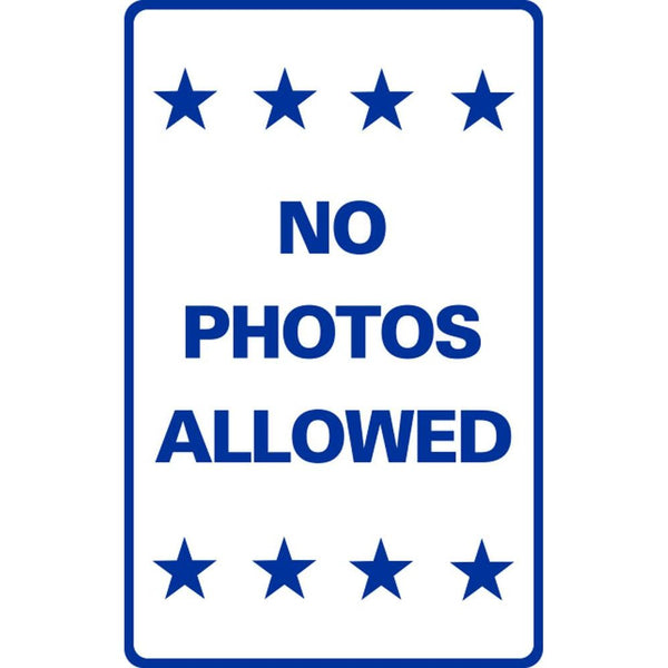 NO PHOTOS ALLOWED SG-221F
