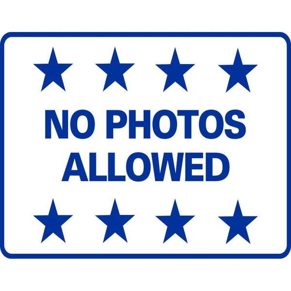NO PHOTOS ALLOWED SG-221G