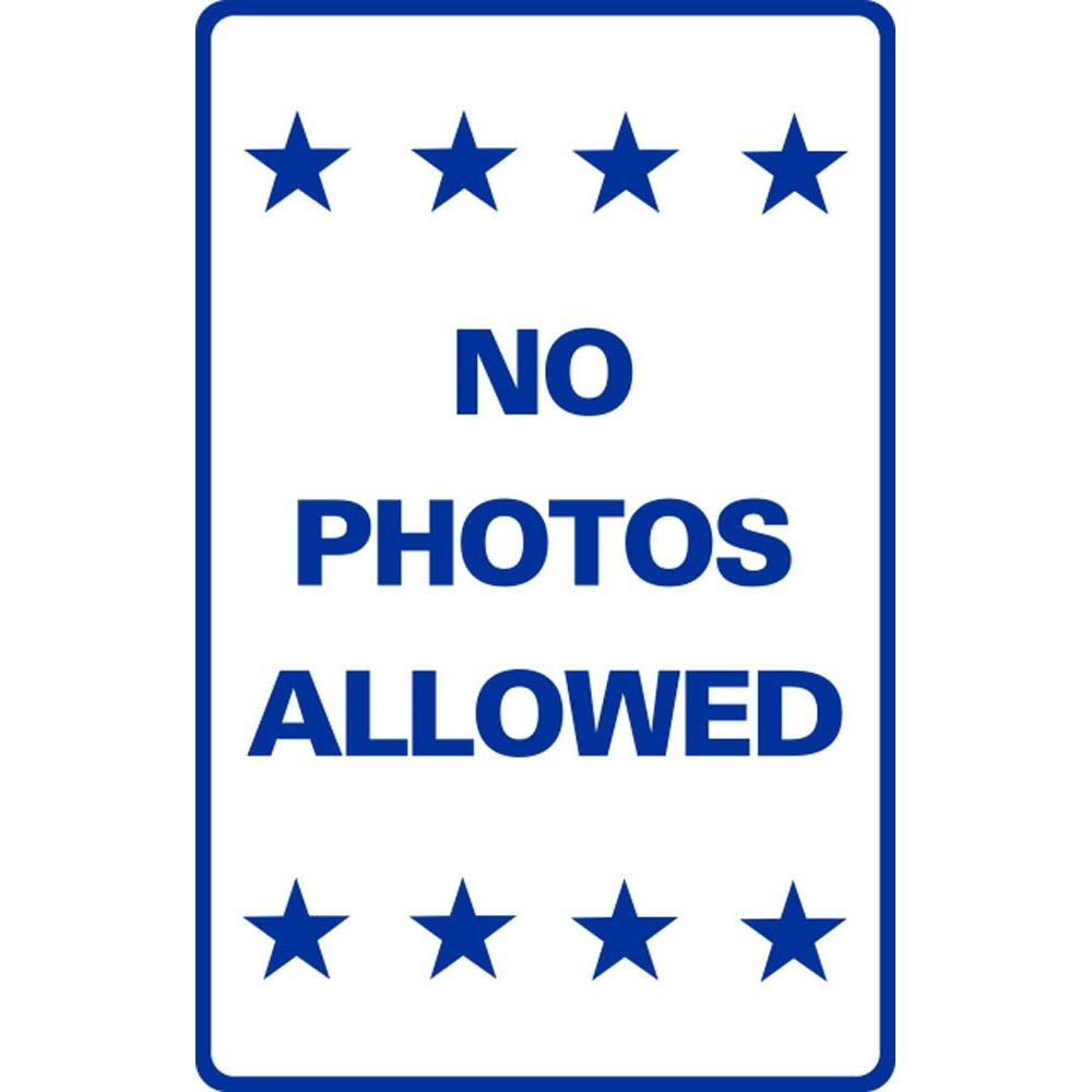 NO PHOTOS ALLOWED SG-221H