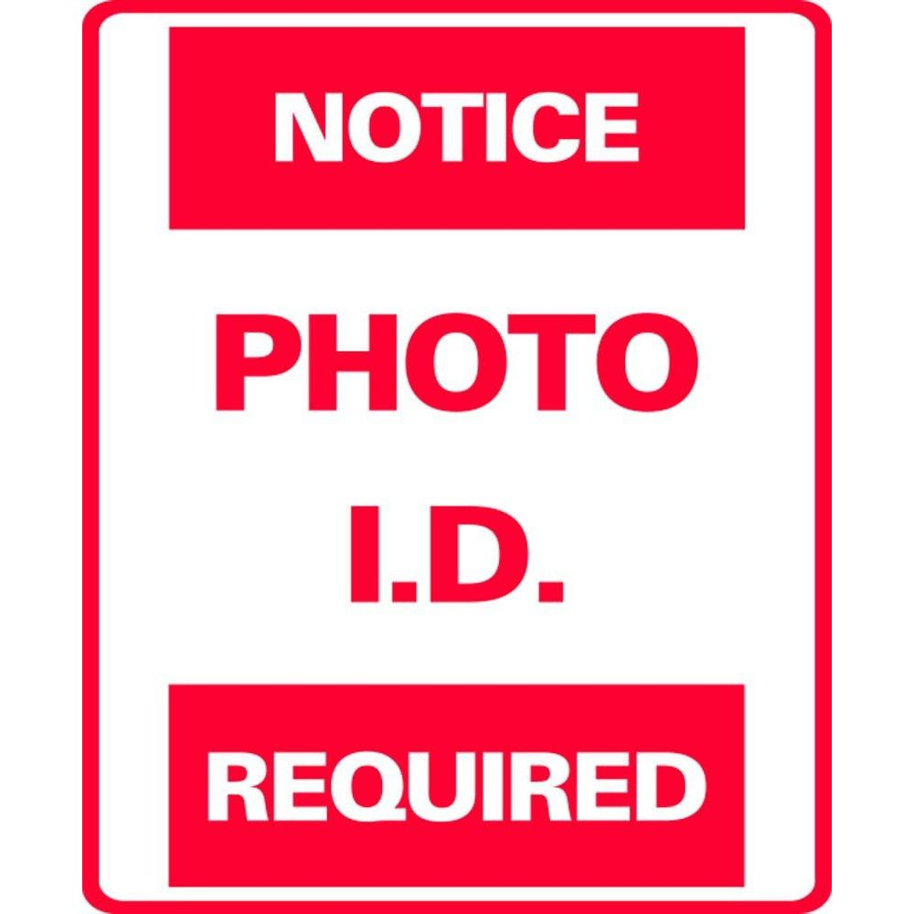 NOTICE PHOTO I.D. REQUIRED SG-301JS
