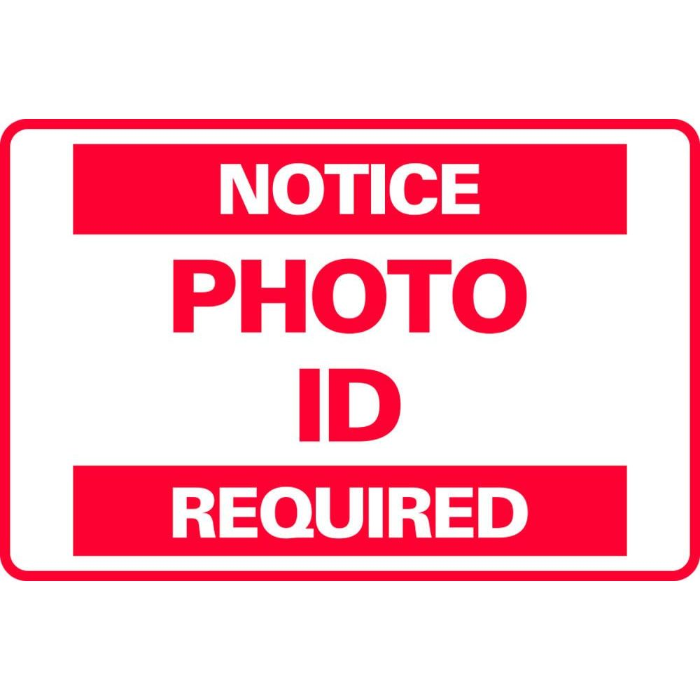 NOTICE PHOTO I.D. REQUIRED SG-301D