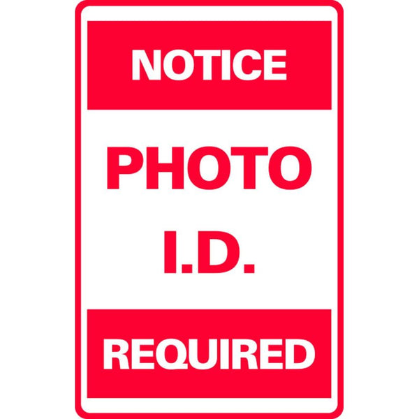 NOTICE PHOTO I.D. REQUIRED SG-301H