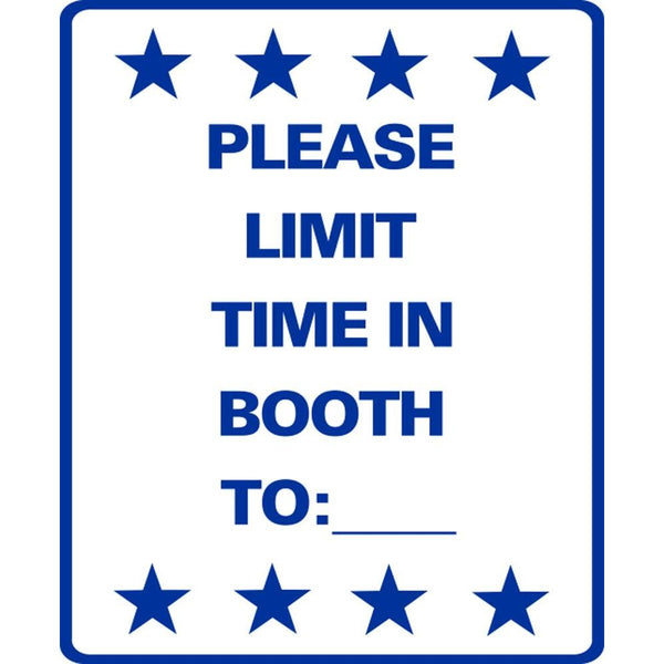 PLEASE LIMIT TIME IN BOOTH TO:___ SG-306C