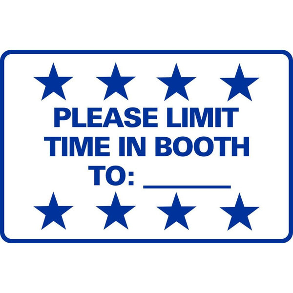 PLEASE LIMIT TIME IN BOOTH TO:___ SG-306D