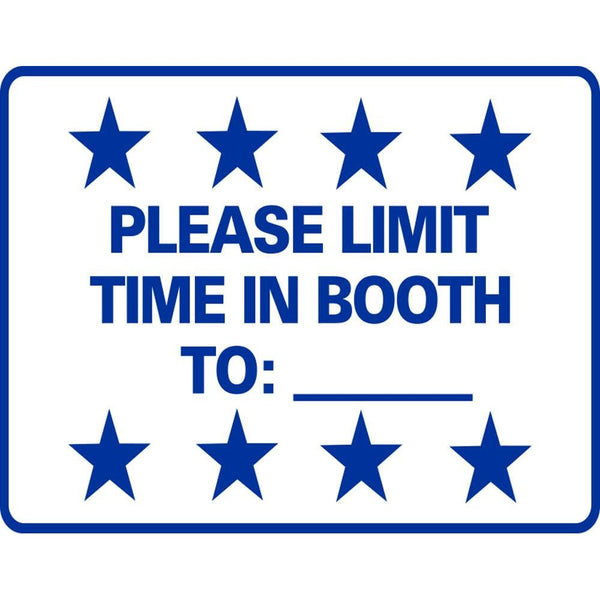 PLEASE LIMIT TIME IN BOOTH TO:___ SG-306G