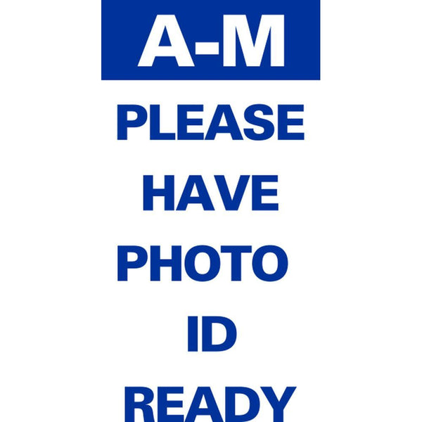 A-M PLEASE HAVE PHOTO ID READY SG-316E