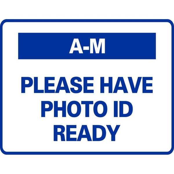 A-M PLEASE HAVE PHOTO ID READY SG-316G