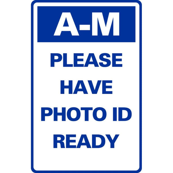 A-M PLEASE HAVE PHOTO ID READY SG-316H