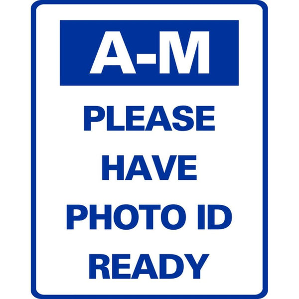 A-M PLEASE HAVE PHOTO ID READY SG-316J