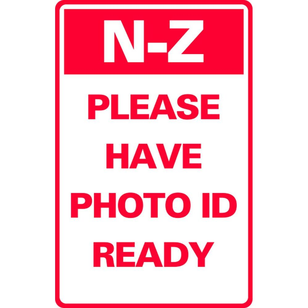 N-Z PLEASE HAVE PHOTO ID READY SG-317H