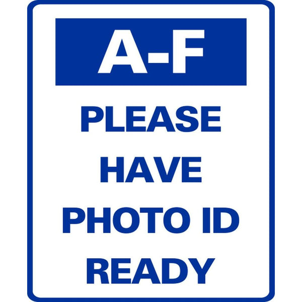 A-F PLEASE HAVE PHOTO ID READY SG-318C