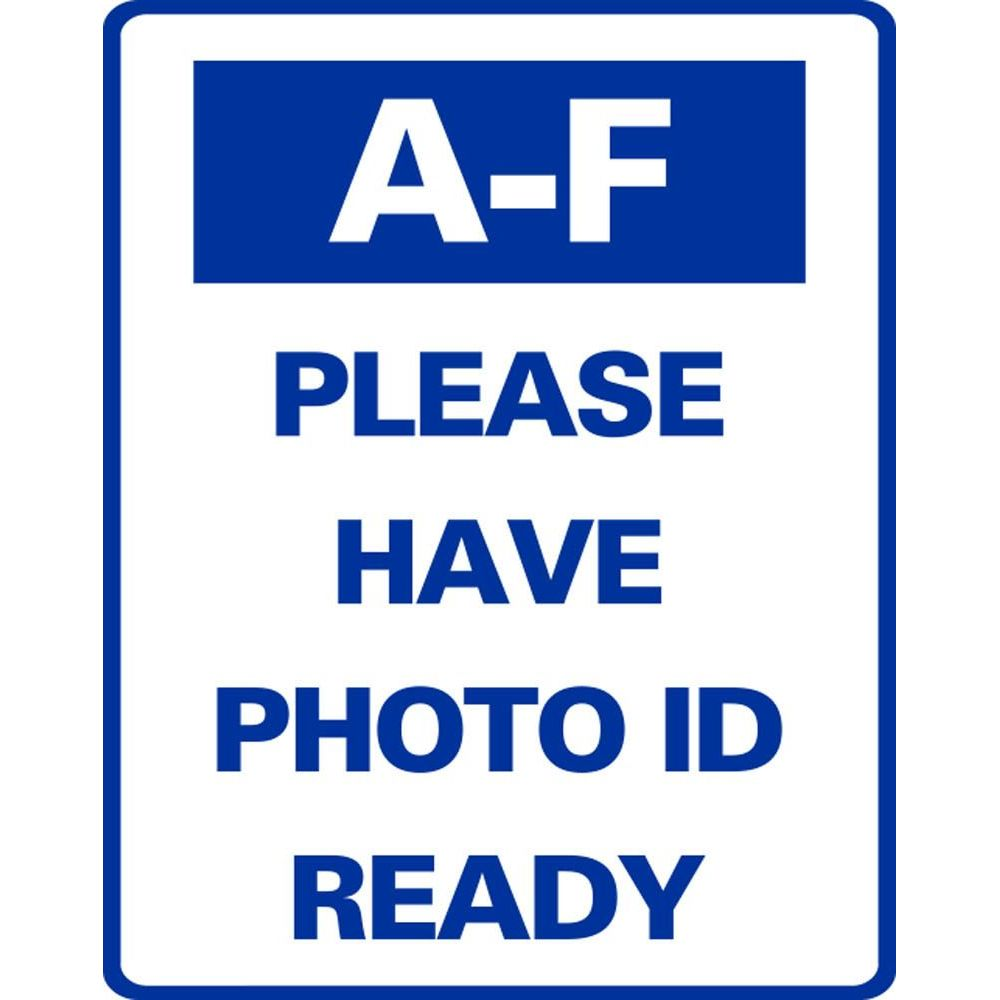 A-F PLEASE HAVE PHOTO ID READY SG-318JS