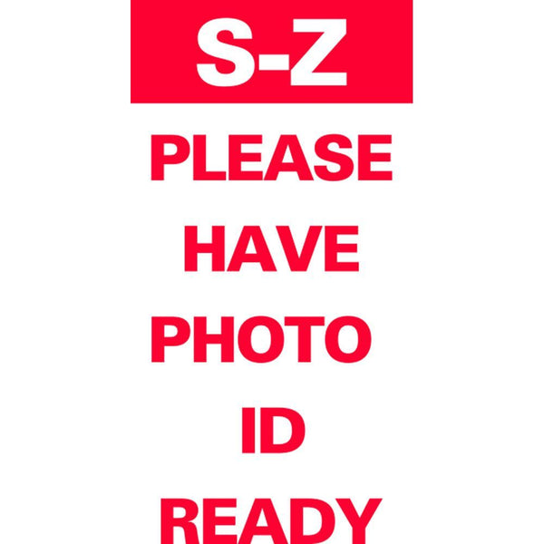S-Z PLEASE HAVE PHOTO ID READY SG-321E