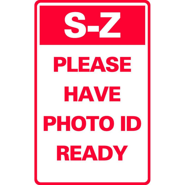 S-Z PLEASE HAVE PHOTO ID READY SG-321F