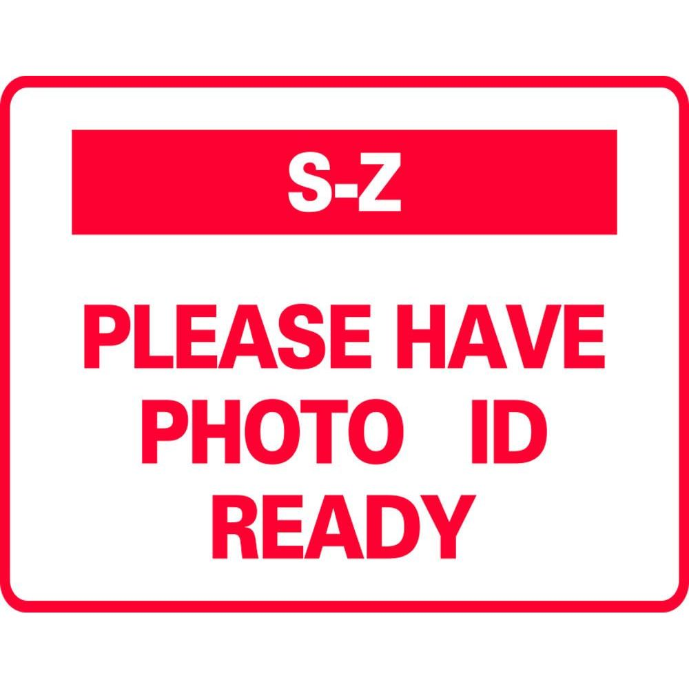 S-Z PLEASE HAVE PHOTO ID READY SG-321G