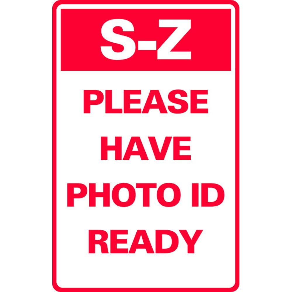 S-Z PLEASE HAVE PHOTO ID READY SG-321H
