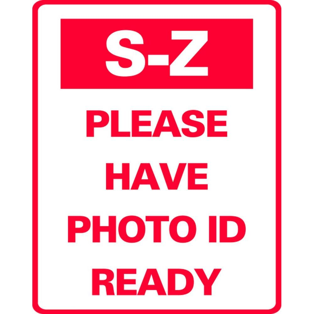 S-Z PLEASE HAVE PHOTO ID READY SG-321J