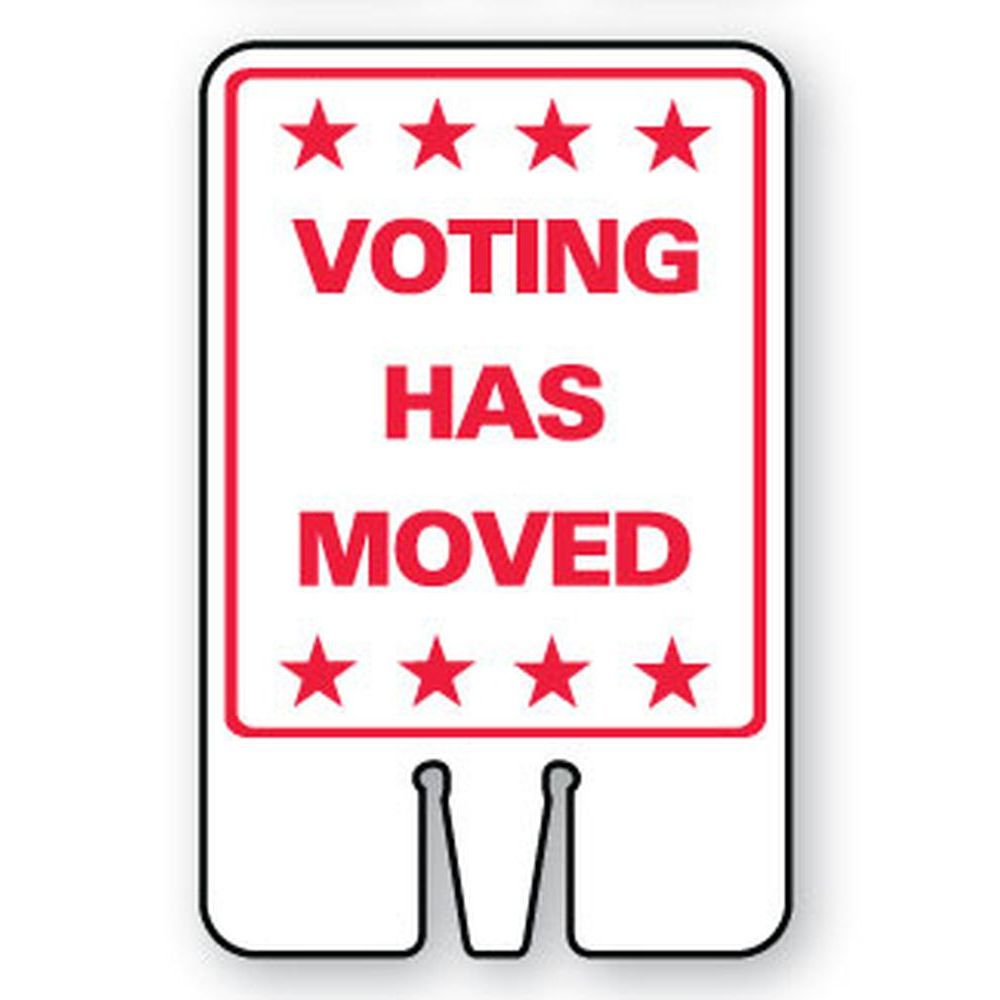 Voting Has Moved SG-206I2