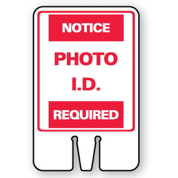 NOTICE PHOTO I.D. REQUIRED SG-301I1