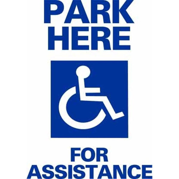 Park Here For Assistance SG-106A