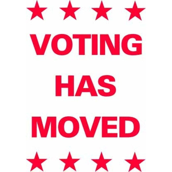 Voting Has Moved SG-206B