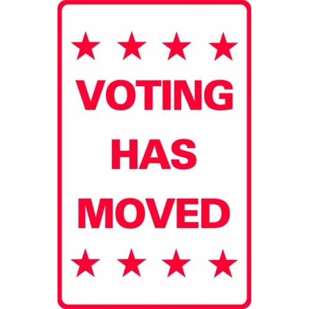 Voting Has Moved SG-206F