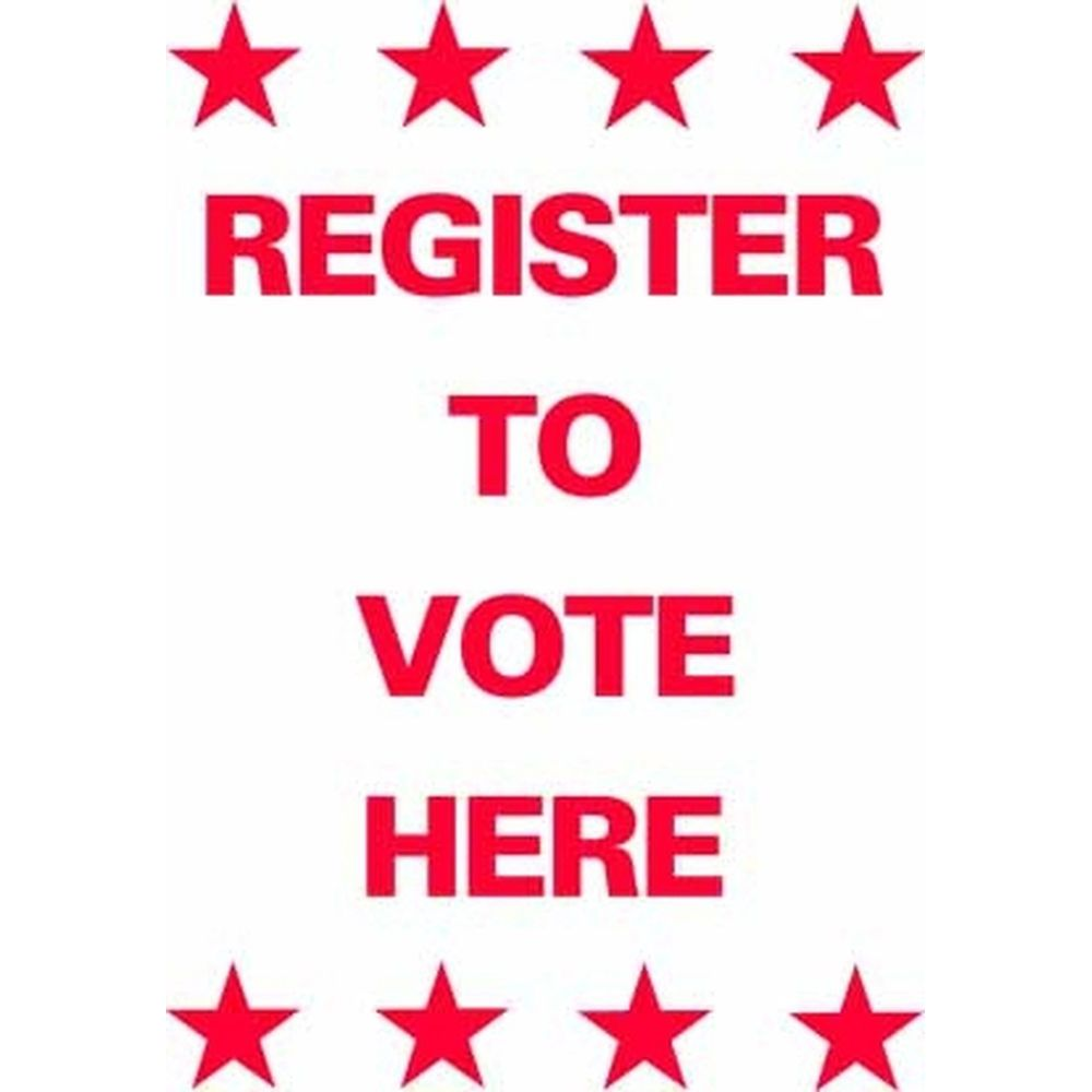 Register to Vote Here SG-211B