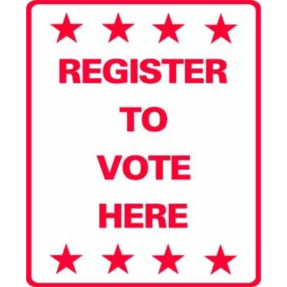 Register to Vote Here SG-211J