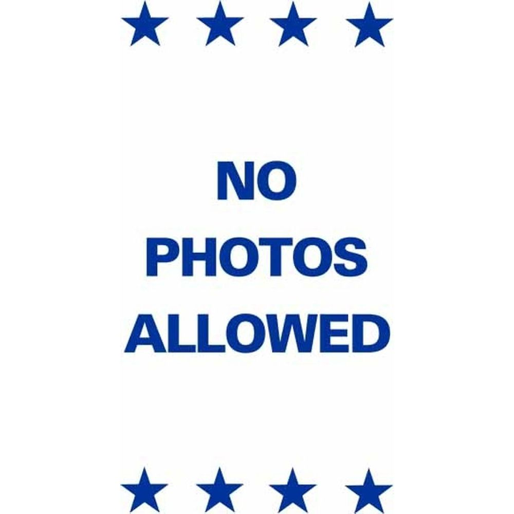 NO PHOTOS ALLOWED SG-221E