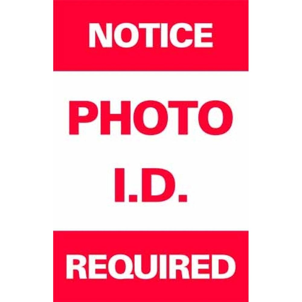 NOTICE PHOTO I.D. REQUIRED SG-301A