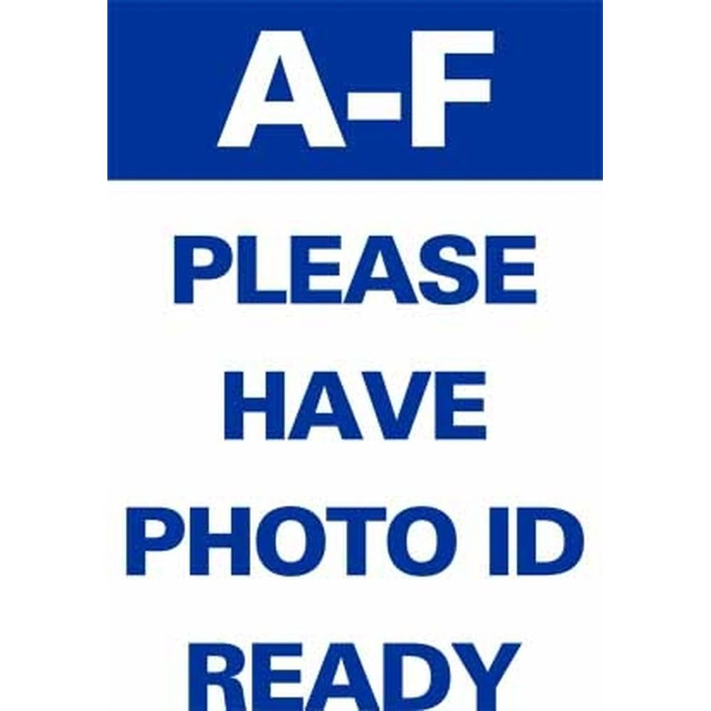 A-F PLEASE HAVE PHOTO ID READY SG-318A